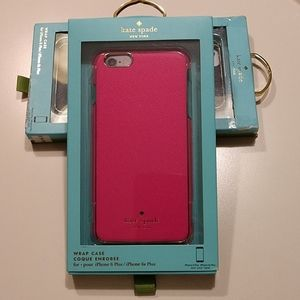 Kate Spade Hot Pink Wrap Case iPhone 6/6s Plus